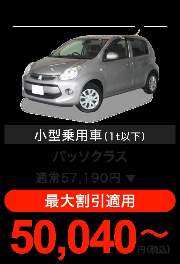 車検料金(小型乗用車)