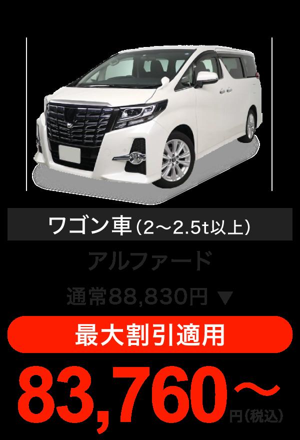 車検料金(ワゴン車)